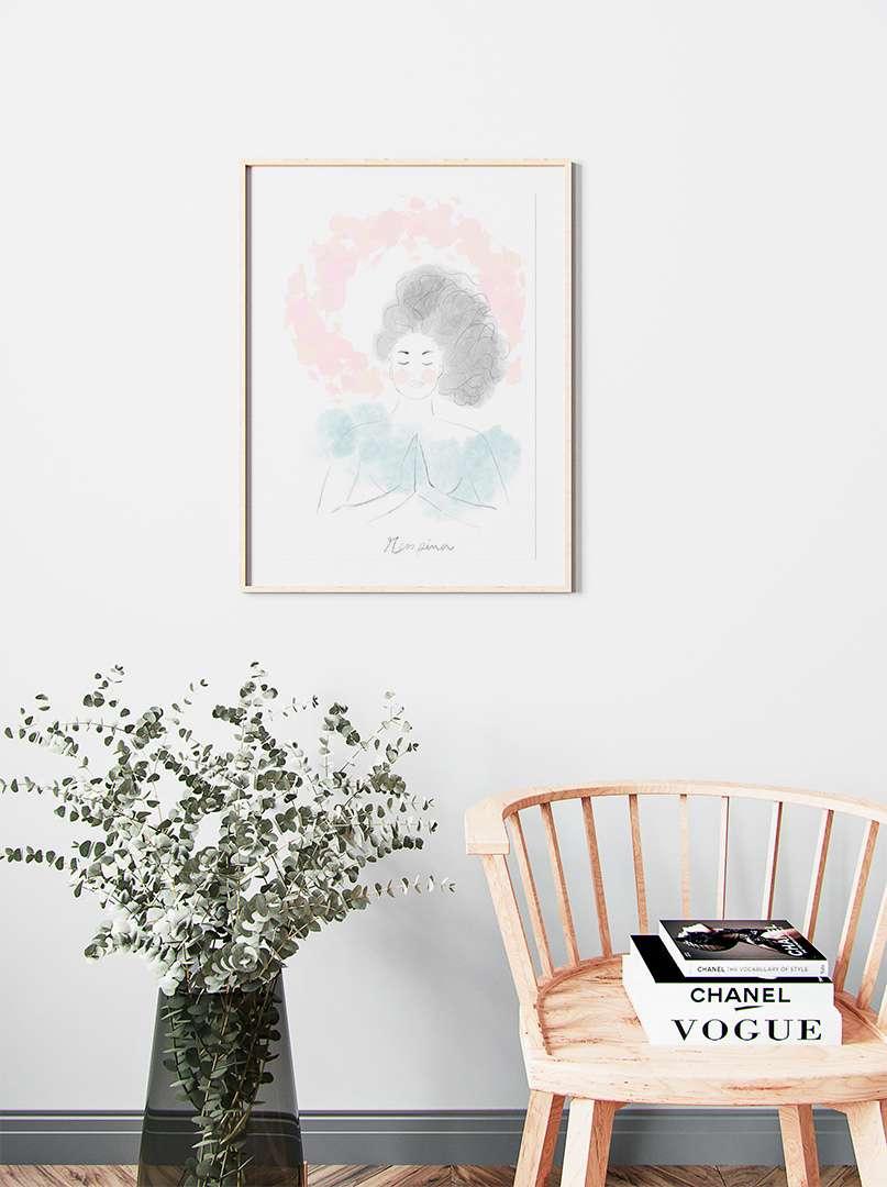 maria carvao art print respira | Maria Carvão